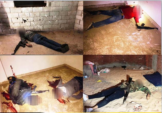 بالصور.. مداهمة 3 أوكار إرهابية بالجيزة وشمال سيناء ومقتل 40 تكفيرياً