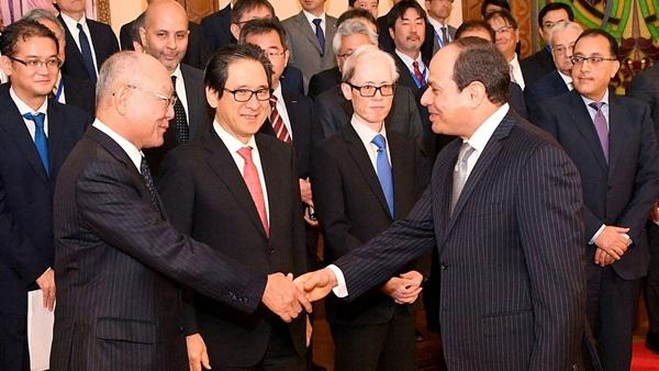 تفاصيل لقاء الرئيس السيسي ووفد المستثمرين اليابانيين