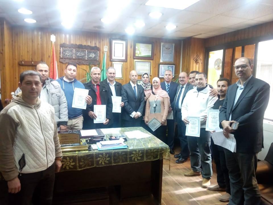 بالصور.. وكيل صحة الشرقية يكرم أعضاء لجنة السلامة والصحة المهنية
