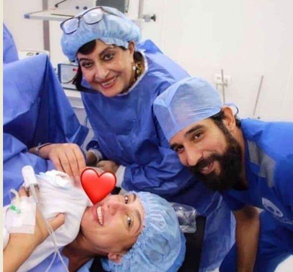 حنان مطاوع تحتفل بمولودتها الاولى مع نجوم الفن
