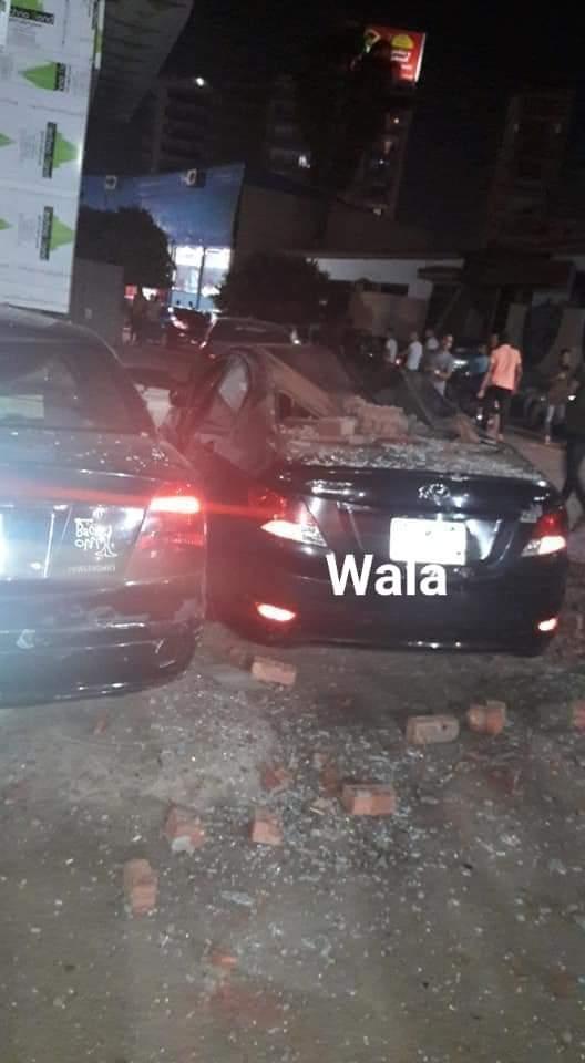 بالصور اهمال المحليات يتسبب فى انهيار مبنى بجوار محافظة الشرقية
